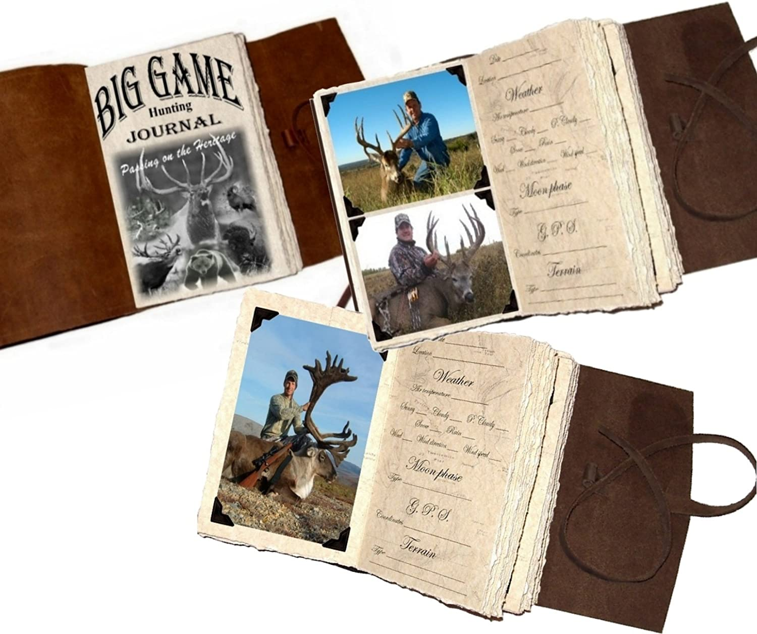 HUNTER Leather sale Hunting Journal with El Paso Mall Pages Photo Handmade Rustic
