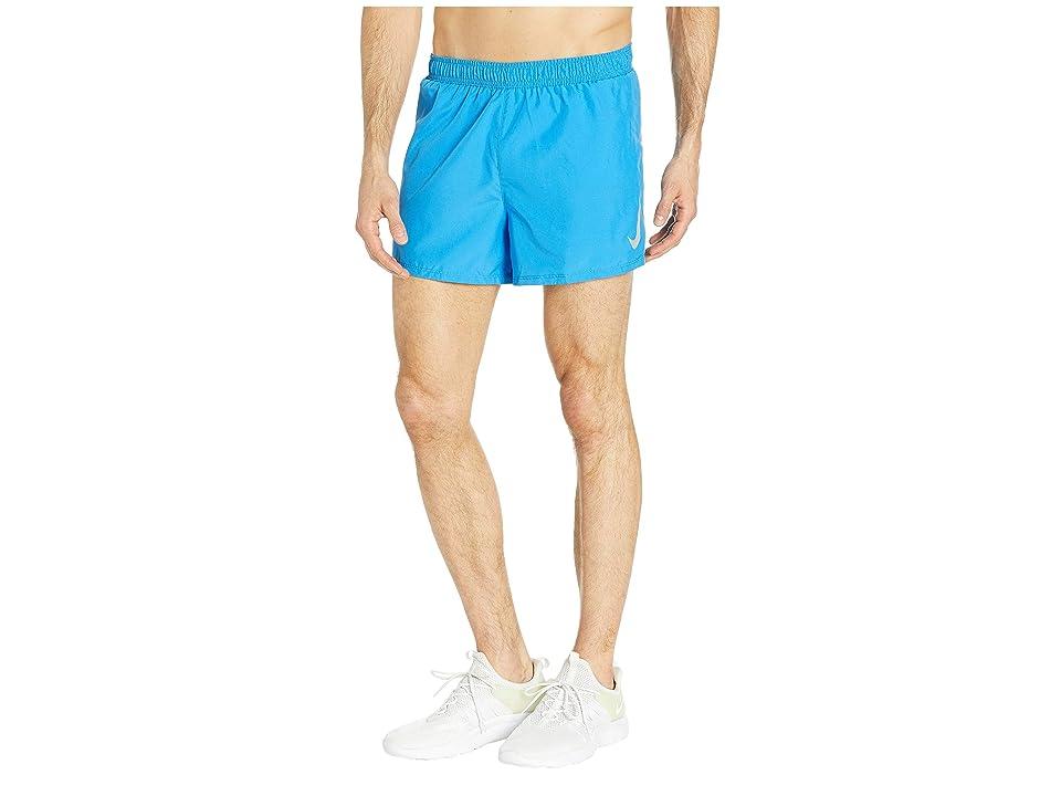 Nike Fast Shorts 4 (Light Photo Blue/Reflective Silver) Men