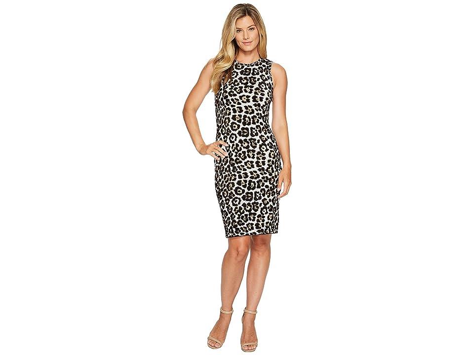 MICHAEL Michael Kors Animal Dress (Chocolate) Women
