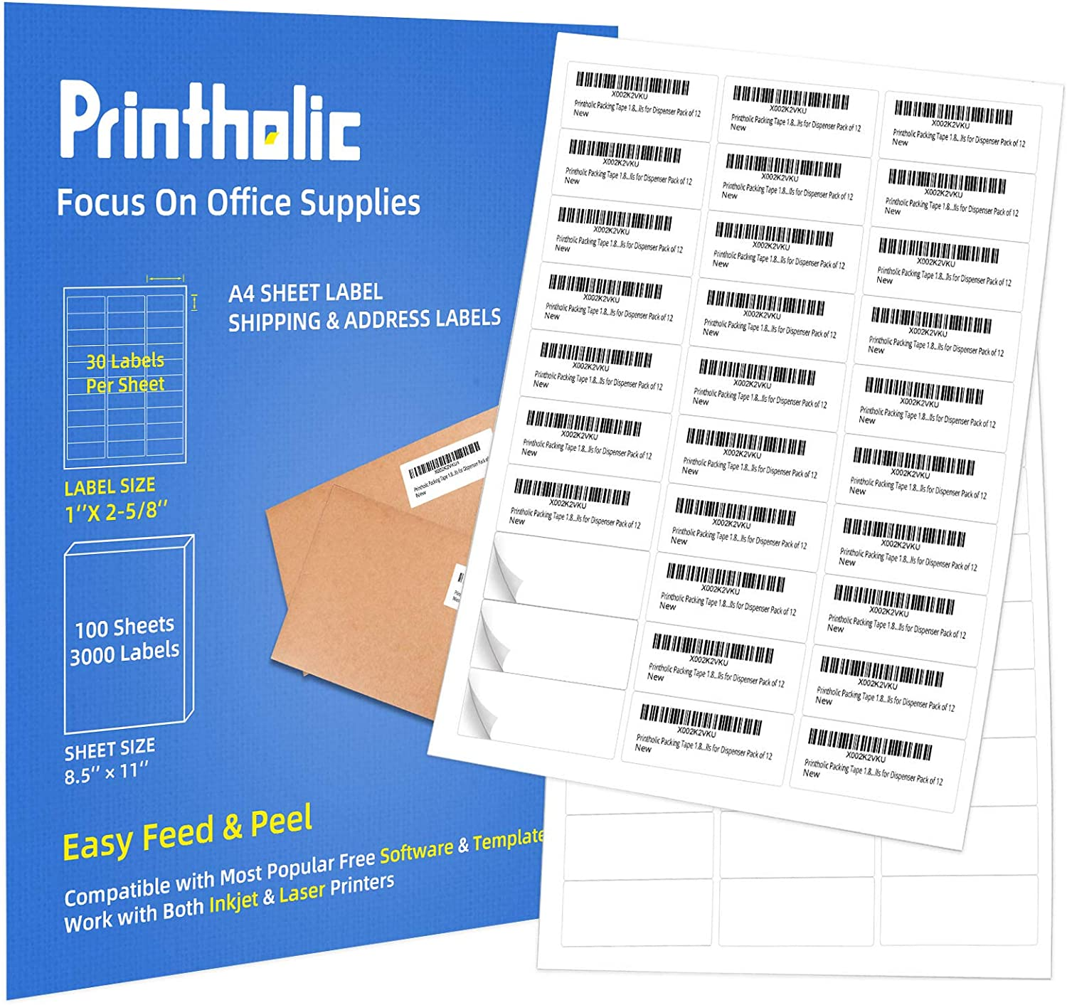 Printholic Colorado Springs Mall Direct sale of manufacturer 30-Up Shipping Labels 1
