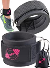 Ankle Straps for Cable Machines | Padded Cable Machines Ankle Cuffs for Gym, Cable Exercise Fitness Ankle Straps Attachement for Women and Men Legs Workout – Carry Bag Included