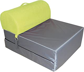 Chauffeuse convertible Polyester Vert Anis/Gris 75 x 58 x 48 cm