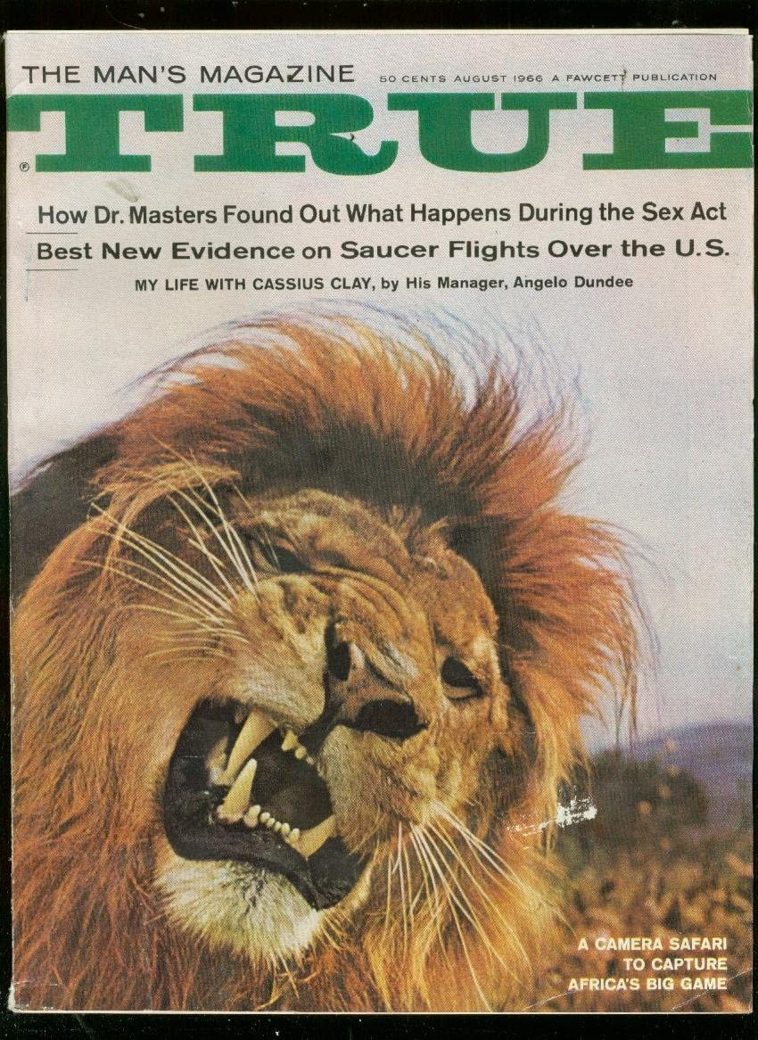 TRUE MAGAZINE Gifts AUG 1965-LION DUNDEE-ALI Trust COVER-ANGELO VG