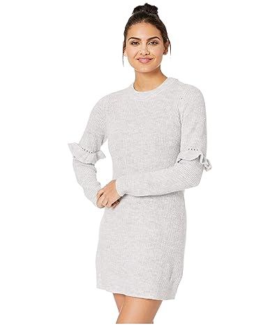 kensie Melange Knit Sweater Dress KSDK8326 (Heather Ivory/Cloud) Women