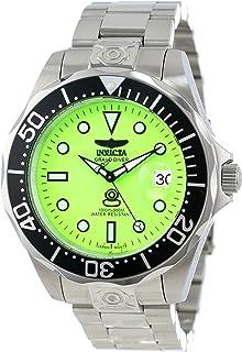 ساعة انفيكتا للرجال 10641 برو دايفر أوتوماتيك مينا خضراء ستانلس ستيل