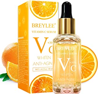 Vitamin C Serum, BREYLEE Anti-Aging Facial Serum with Hyaluronic Acid, Retinol, and Vitamin E Moisturizing Face Serum for Skin Whiten Skin Brighten, Fades Sun Spots (40ml, 1.41oz)