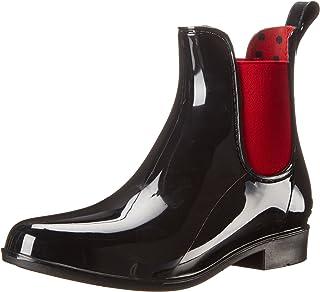 Lauren Ralph Lauren Women's Tally Rain Boot, Black/Rl Bright Red, 5 B US