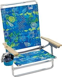Margaritaville Outdoor Rio Beach Classic 5-Position Lay-Flat Folding Beach Chair - Baja Boho Shells