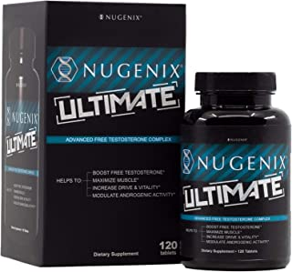 Nugenix Ultimate Testosterone Booster for Men, Clinically Researched, Maximizes Muscle, Boost Vitality, Mega Dose D-Aspart...