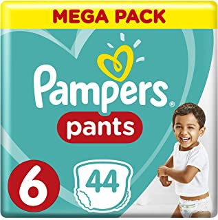 Pampers Pants Diapers, Size 6, Extra Large, >16kg, 44 Count
