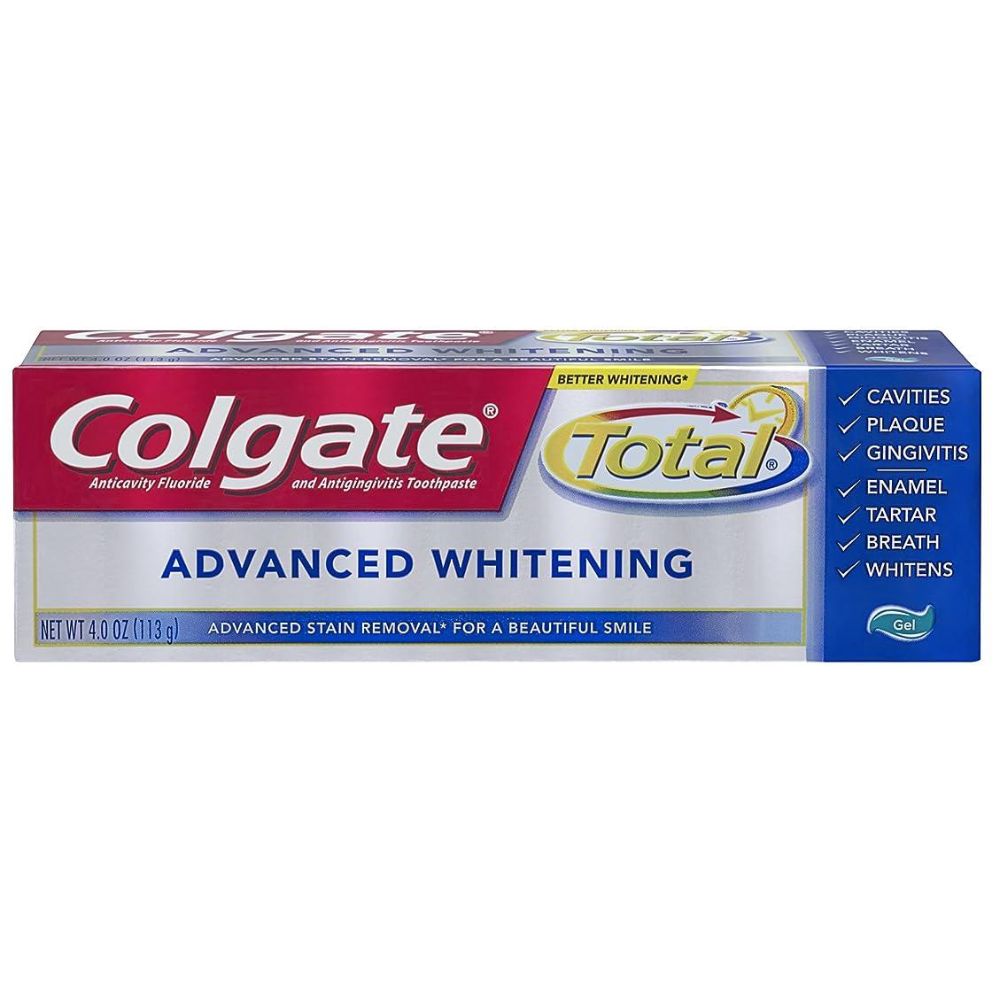 間違えた寝室を掃除するのどColgate 総アドバンストホワイトニングジェル歯磨き - 4.0オンス(6パック)