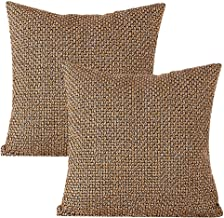"""Treely Throw Pillow Covers Decorative Knitted Pillow Case Set of 2 Cushion Cover for Couch Bed Home 18"""" X 18"""" (18"""" x 18"""")-2Pcs Beige"""