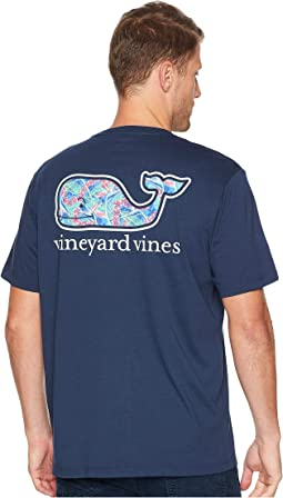 Short Sleeve Flowers In Paradise Whale Front Tee