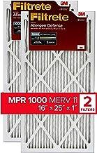 Best Filtrete 16x25x1, AC Furnace Air Filter, MPR 1000, Micro Allergen Defense, 2-Pack (exact dimensions 15.719 x 24.72 x 0.84) Reviews