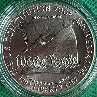 1987 D US Mint Constitution BU Silver Dollar $1 Gem Brilliant Uncirculated US Mint