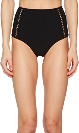 Jonathan Simkhai Pearl Studded High-Waisted Bikini Bottom