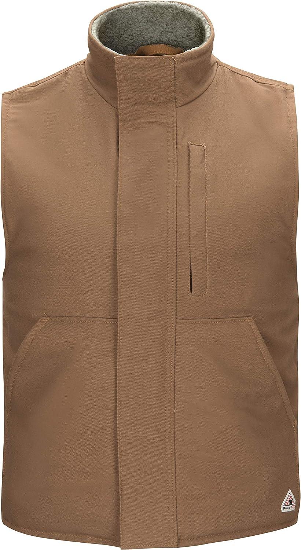 Bulwark FR Men's Sherpa Lined Brown Duck Vest