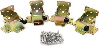 4 Pcs - Lock Extension Table Bed Leg Feet Steel Folding Foldable Support Bracket Screw A