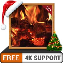 Curly Wood Fireplace FREE - Enjoy the peaceful ambiance on your 4K TV and Fire Devices as a wallpaper and Theme for Mediation & Peace during Christmas Winter Season