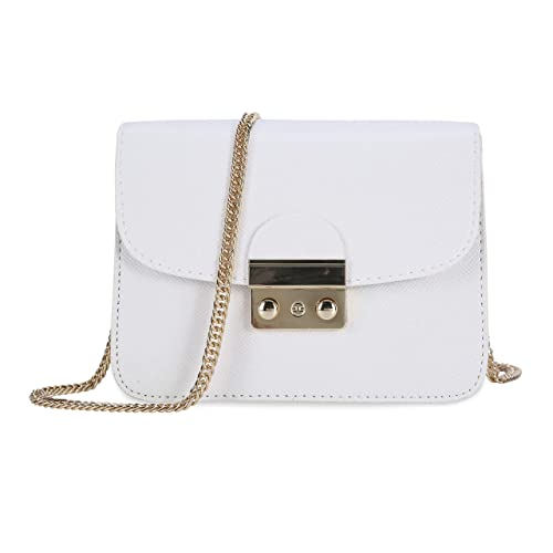 732df2f55b Chain Bags for Women Casual Small Shell PU Leather Handbags Clutches  Wristlet Cross-Body Shoulder