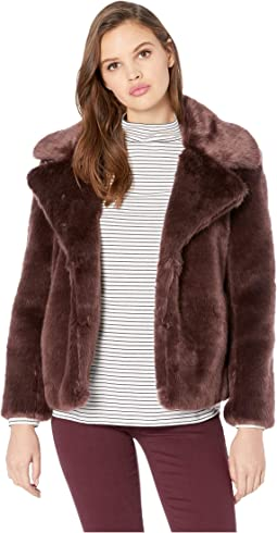 Faux Mink Cropped Jacket