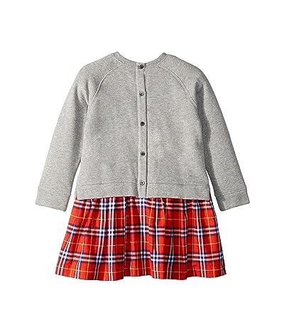 Burberry Kids Francine Dress (Little Kids/Big Kids) (Orange Red Check) Girl