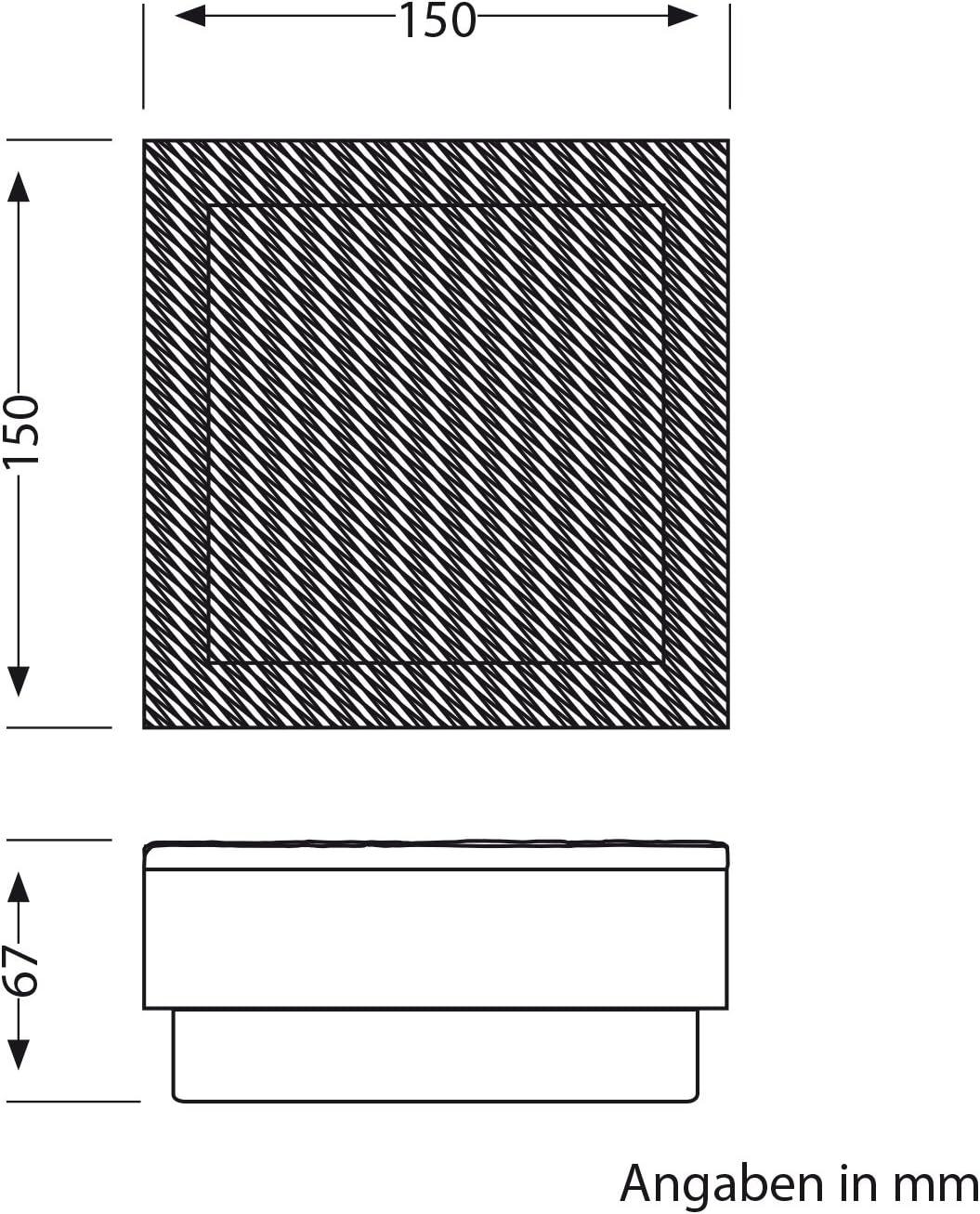 ledscom.de LED Pflaster-Stein Gorgon Boden-Einbauleuchte für außen, 15x15cm, 12V, kalt-weiß 2er Set 6er-set