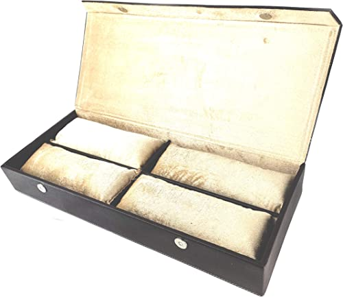 Hard Craft Watch Box Case PU Leather for 12 Watches - Black