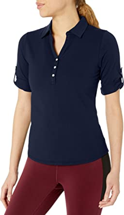 Cutter & Buck Womens Tri-Blend Stretch Jersey Elbow Sleeve Thrive Polo Shirt Short Sleeve Polo Shirt