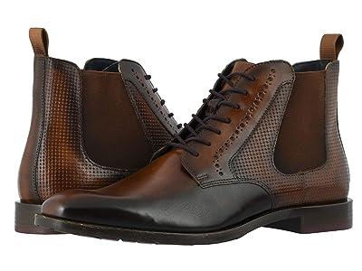 Stacy Adams Rupert Plain Toe Gore Boot (Tan/Burgundy) Men