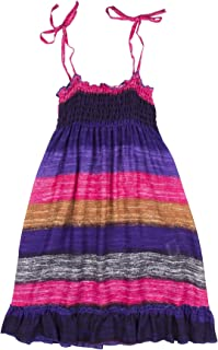 Lofbaz Girls' Long Casual Beach Dress Thick Stripes