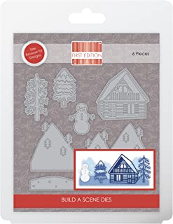First Edition Christmas 2018 - Metal Crafting Dies - Build A Scene - Log Cabin