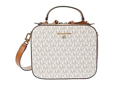 MICHAEL Michael Kors Jet Set Charm Medium Top-Handle Crossbody (Vanilla/Acorn) Cross Body Handbags