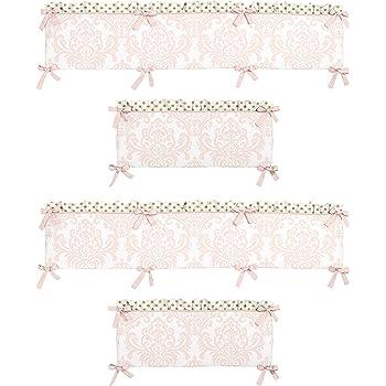 Pink French Toile Collection Crib Bumper By Sweet Jojo Designs B019ixqgpw Home Kitchen Kids Store