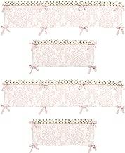 Sweet Jojo Designs Baby Girls Crib Bumper for Blush Pink White Damask and Gold Polka Dot Amelia Collection