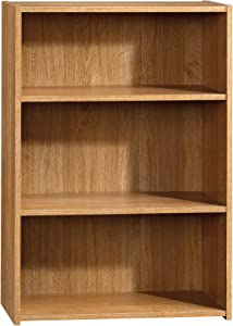 Sauder Beginnings 3-Shelf Bookcase, Highland Oak finish
