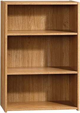 Sauder Beginnings 3-Shelf Bookcase, Highland Oak finish