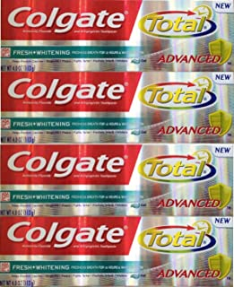 Colgate Total Advanced Fresh with Whitening Gel Toothpaste, 4 oz (Pack of 4)