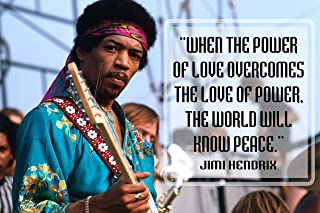 Jimi Hendrix Quote Poster Black History Month Posters Wall Art Music Quotes Cool Woodstock 1969 Teaching Decorations Jimmy Classic Rock Decor Black Decoration Teacher Decoration Mindsets Legend P039