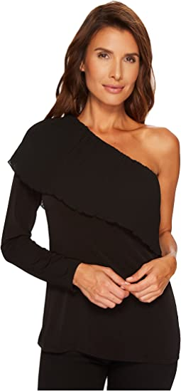 MICHAEL Michael Kors - Pleat One Shoulder Top