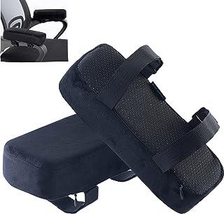 EcoLifeDay Chair armrest Pads Foam Elbow Pillow Pressure Relief armrest Pads 2-Piece Set of Office Chair armrest Best Furn...