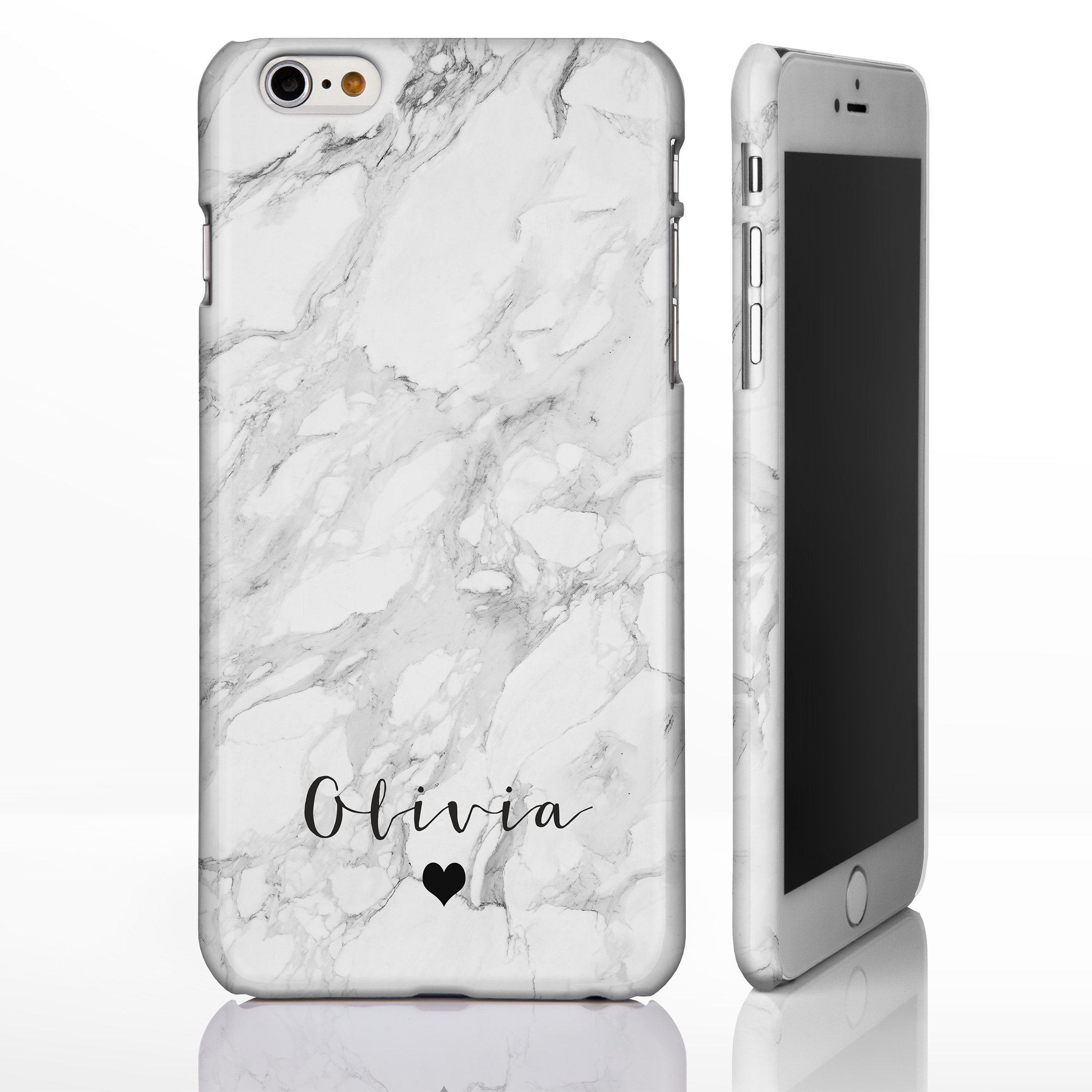 personalised phone case amazon co ukpersonalised monogram grey marble phone case for iphone 7 8 8 small heart