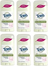 Tom's of Maine Natural Women's Stick Antiperspirant Deodorant, Powder, 2.25 Ounce (Pack of 6)