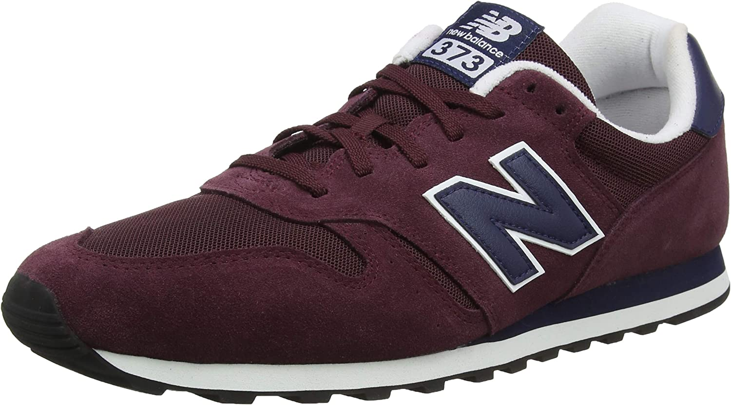 New Balance Men's 373 Suede Trainers, Red