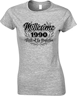 Tim And Ted French Womens Tshirt Millsime 1990 Vieilli La Perfection