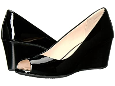 Cole Haan Sadie Open Toe Wedge 65mm (Black Patent) Women