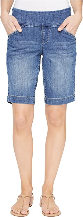 4326e976a7cf Ainsley Pull-On Bermuda Comfort Denim in Weathered Blue