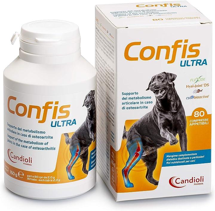 Integratore per cani e gatti, 80 cpr candioli confis ultra CNPA2963