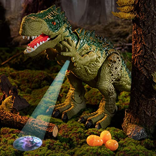 discount TEMI Electric Walking Dinosaur Toy with online Sounds, Projection, Laying Egg| discount Dinosaur Gift for Boys and Girls 3 4 5 6 7 Years sale