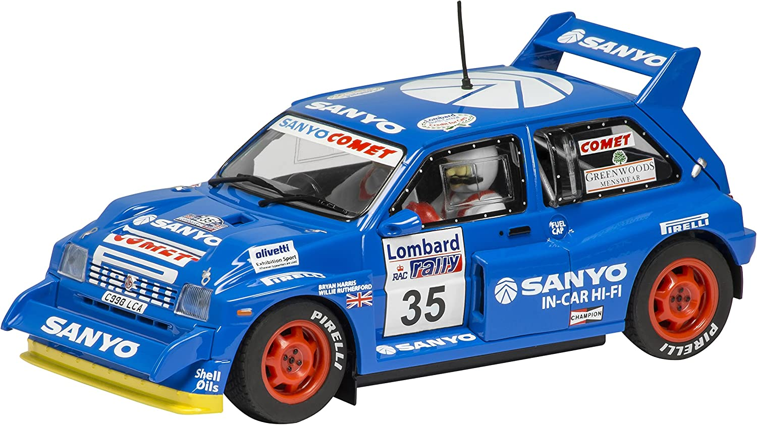 Sacramento Mall Outstanding Scalextric C3639 MG Metro 6R4 #35 1:32 Scale Slot Car